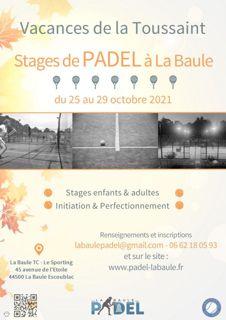 Stage de Padel à La Baule avec Sophie Gilbert pour les vacances de la Toussaint